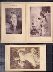 3 Nus artistiques tirages argentines sur cartons epais 1895.. Artlux