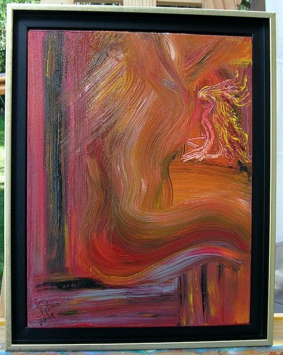 Abstrait rouge orange. Patricia Vivier Robert Patricia Vivier Robert » Pat V »