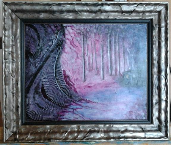 Abstrait violet rose bleu La guerre des Mondes. Patricia Vivier Robert Patricia Vivier Robert » Pat V »