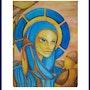 Sainte - représentation d'une sainte. Mooz Marc