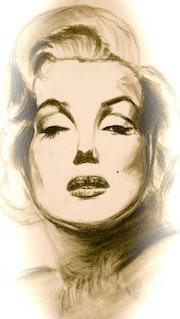 Portrait de Marilyn Monroe.