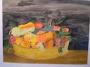 Corbeille Toulousaine de fruits. Marc