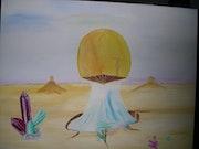 Rennaissance de la vie dans le desert. Marc