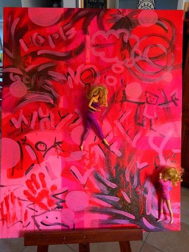La vie en rouge. Play-Art Christine Childs