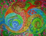 Monde intérieur coloré de bonheur.