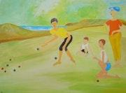Bild 514: Boccia spielende Kinder.