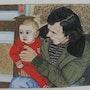 Franck bébé (oeuvre de René, mon père). Ghislaine Phelut