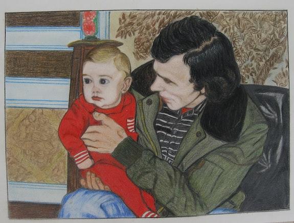 Franck bébé (oeuvre de René, mon père). Ghislaine Phelut Sanchez. (Oeuvre De René) Ghislaine Phelut