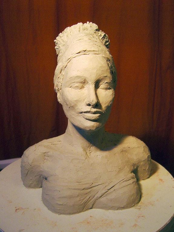 Jeune femme au turban.  Sandrine Millet