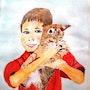 L'enfant et le chaton. Limo