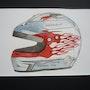 Casque de course Porsche Carrera Cup. Sylvia Patissier-Gauthier
