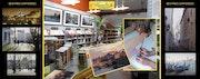 Dédicace de mon livre d'Art, et démonstration d'aquarelle au magasin boesner.