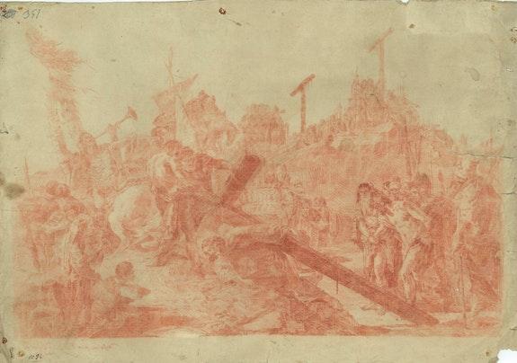 Die Kreuztragung Christi. Tiepolo Giovanni Battista 1696-1770 Galerie Geran
