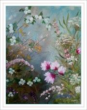 Printemps des fleurs : magniolias, symphorine, ombellifère, virburnum.