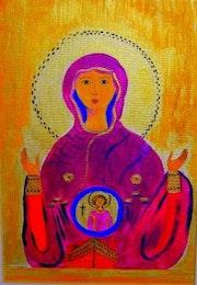 La vierge à l'enfant.
