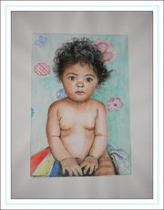 Portrait de bébé Loane 9 mois.. Françoise-Elisabeth Lallemand