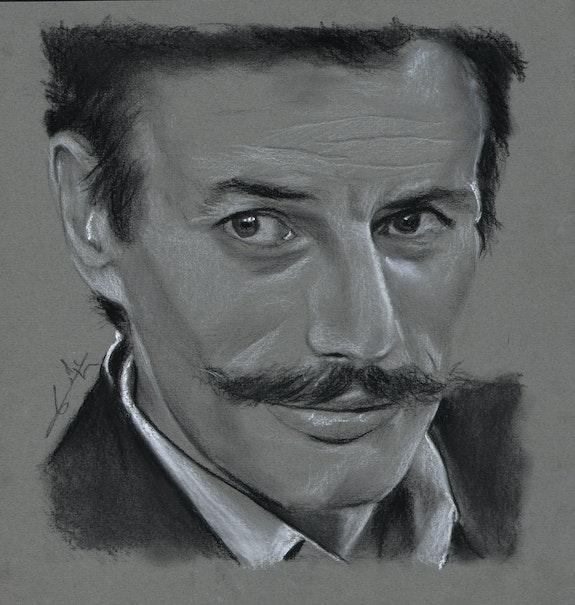 Jean Ferrat, portrait au fusain 241112. Philippe Flohic Philippe Flohic