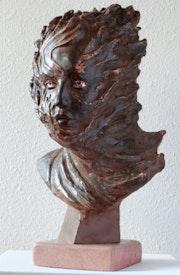 Pyrowoman, portrait en bronze à la cire perdue d'une jeune femme par» Lanoir».