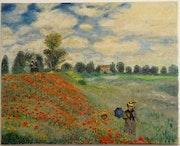 Les coquelicots de Claude Monet. Peinte à la main Reproduction d'art à l'huile s. Frédéric Brizaud