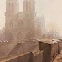 Contre-jour sur Notre Dame au matin. Thierry Duval