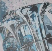 Reflets sur les tubas. Annick Latorre