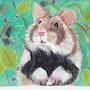 La Hamster d'Alsace aux aguets.. Michèle G