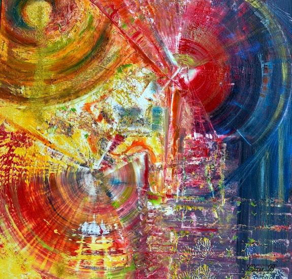 Les moulins du bonheur.. Chris. B Christine Busquet