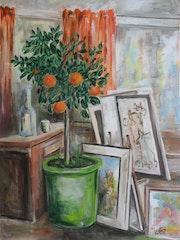 Mon atelier en Hiver à Chamborigaud.
