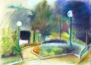 Pathway in green casting paris. Stéphane Hauton
