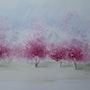 Explosion printanière dans la vallée. Christiane Bricou