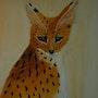 Joli félin d'Afrique le serval. Marie-Lise Bomme Kroeger