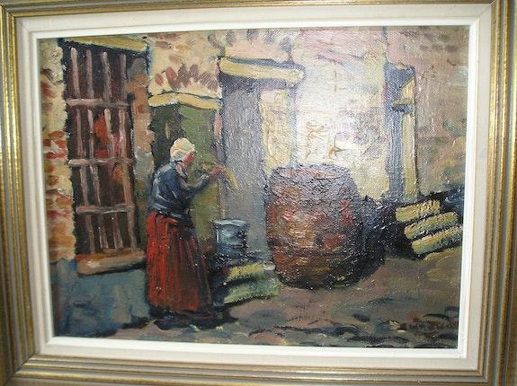 Woman in a street. W De Zwart Bert Veenema