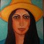La dame au chapeau jaune. Marie-Lise Bomme Kroeger