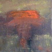 Coquette - pigments sur toile.