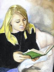 Stéphanie, lecture studieuse.