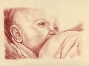 Bébé au sein. Philippe Flohic