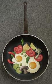 Des œufs au plat. M. S.