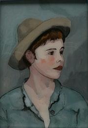 Peinture sous verre - un petit vénitien. Annie Saltel