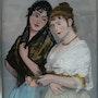 Peinture sous verre - Série les Vénitiennes -.