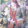 Autoportrait, notre jardin ouvrier détail. Francinegr