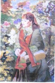 Autoportrait, notre jardin ouvrier détail.