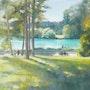 Après midi au parc de la Tête d'Or. Daniele Trigalet