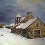 Pordic vue sur la maison sous la neigede mes amis. Francinegr