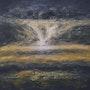 Coucher de soleil par ciel d'orage. Ghislaine Phelut
