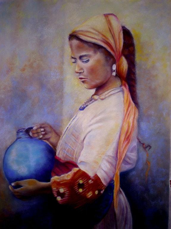 La Magicienne au pot bleu. Véronique Mcisaac Mcisaac Véronique