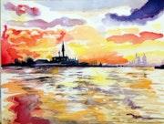 Venise au loin.