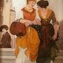 Peinture sous verre - série «les vénitiennes».