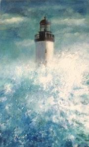 Le phare submergé.