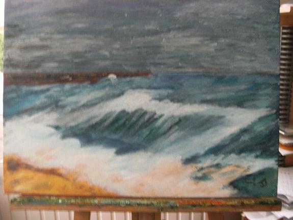 La tempète.  Josiane Joly