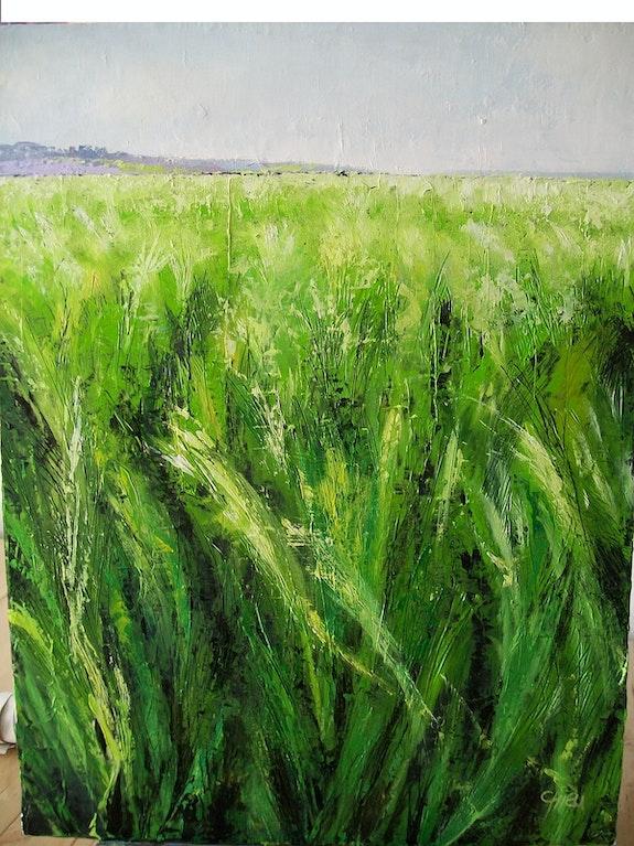 Le champ d'orges verts. Chieu Sylvia La Souris Verte